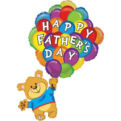 """42"""" Father's Day Balloon Bunch Bear Shape"""