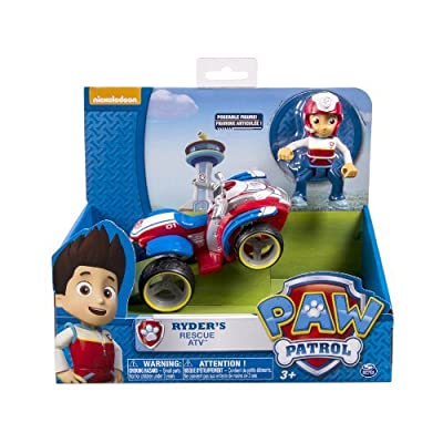 6 X Nickelodeon, Paw Patrol - Ryder's Rescue ATV, Vehicle and Figure from Spin Master