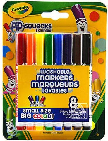 Crayola Pip-Squeaks Skinnies (Fine Tip) - Pack of 8