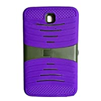 Heavy Duty rugged Silicone+PC impact Hybrid Case with Build In Kickstand Protective Case For Samsung Tablet Galaxy Tab 3 7inch P3200 (Purple) by Goodsmile
