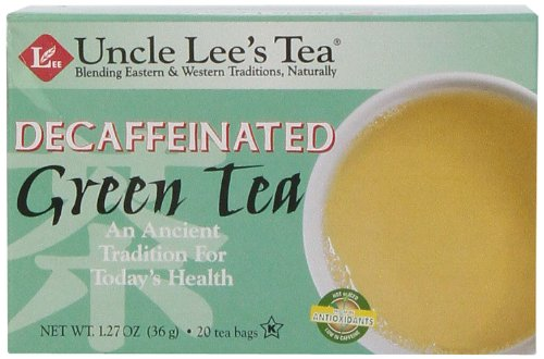 Uncle Lee'S Tea, Decaffeinated Green Tea, 20-Count (Pack Of 6)
