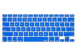 Kuzy - BLUE Keyboard Cover Silicone Skin for MacBook Pro 13\