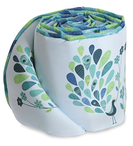 Bananafish Peacock Blue Crib Bumper, Blue - 1