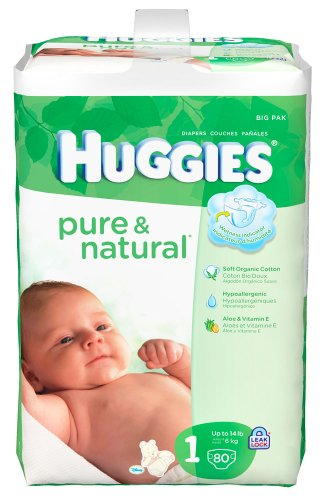 Huggies Pure Natural Diapers Count