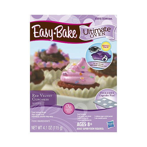 Easy-Bake Oven Red Velvet Cupcake Mix With Pan