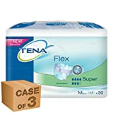 Tena Flex - Super Medium Hip Size: 70-110cm Absorbency 950ml - 30 Pieces - Pack Of 3