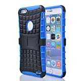 Nancy's Shop Iphone 6 Plus 5.5 Inch [Kickstand] Case,deego New Release [Heavy Duty] Combo Armor Defender [Dual Layer] Grip Case with Prime [Kickstand] for Apple Iphone 6 Plus 5.5'' Screen Smartphone(at&t, Verizon, T-mobile, Sprint,) - (Nancy's Shop Kickstand Case - Blue)