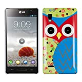 Kwmobile Hard case Owl design for LG Optimus L9 P760 in Blue Red