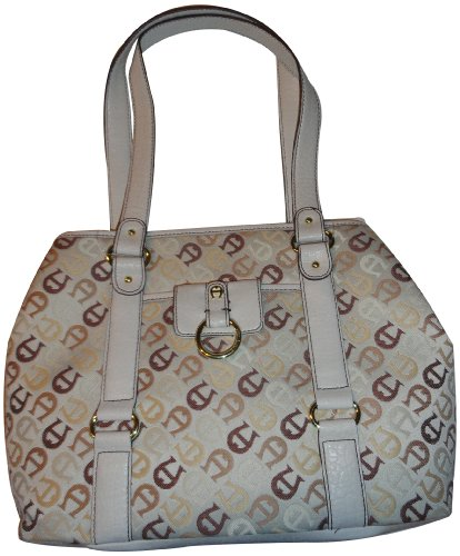 Women's Etienne Aigner Purse Handbag Lorelei Collection Multi Neutral/Ecru