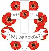 1916-2016Cruz amapola recuerdo insignia