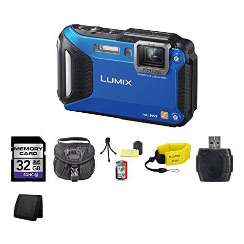 Panasonic Lumix Dmc-Ts5 Digital Camera (Blue) 32Gb Package