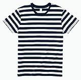 (トラス)TRUSS ボーダーTシャツ SBT-125 95WHT/NVY ホワイト×ネイビー L