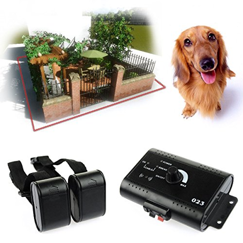 Underground Electric Dog Fence System Waterproof 2 Shock Collars For 2 Dogs Usa