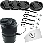 Lens Cap Bundle - 4 Snap-on Lens Covers for DSLR Cameras including Nikon