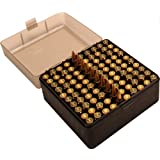 MTM 100 Round Flip-Top Rifle Ammo Box .17, .222, 223, 6x47, .222 Mag (Clear Smoke/Black)