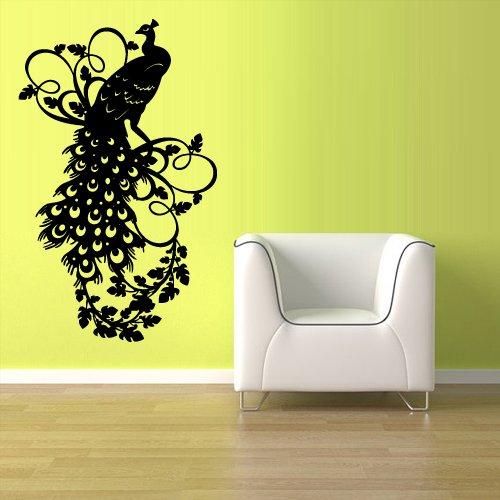 Wall Vinyl Sticker Decals Decor Art Bedroom Design Mural Peacock Bird (Z1089) front-1066831