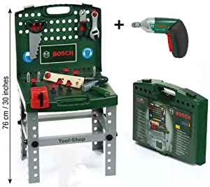 Bosch Play Tool Kit Work Bench With Screwdriver Drill Toy