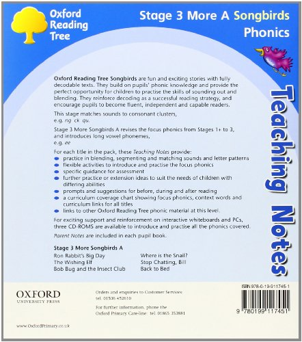 Oxford Reading Tree Songbirds Phonics: Level 3. Pack (6 Books, 1 of each title)