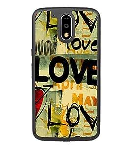 Love Wallpaper 2D Hard Polycarbonate Designer Back Case Cover for Motorola Moto G4 Plus :: Moto G4+