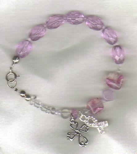 Anglican Rosary Bracelet for Breast Cancer Survivors