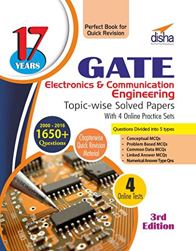 17 years GATE Electronics Engineering Topic-wise Solved Papers (2000 - 16) with 4 Online Practice Sets