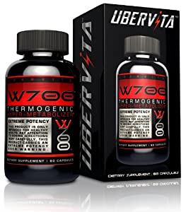 Ubervita W700 Thermogenic Hyper Metabolizer Capsules, 60 Count