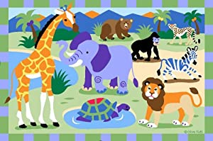 La Rug Wild Animals 39-by-58-inch Area Rug from LA Rug Co