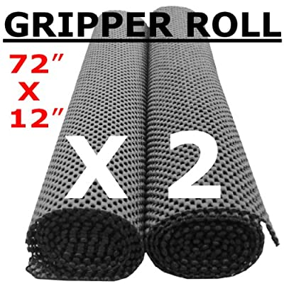 Non-Slip Gripper Roll x 2 (Black) - Over 11,000 cm2 - ULTIMATE Extra Thick 400 gsm Floor, Mat, Tray, Drawer Grip - 100's of Other Household and In-Car Uses
