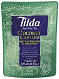 Tilda Steamed Basmati Coconut and Lime Leaf Rice 250 g (Pack of 6)