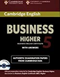 Cambridge BEC / Higher Student's Book Pack 5 (Student's Book with answers and Audio CD)