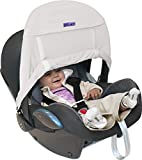 Dooky X126302 sun cover for prams/strollers - sun covers for prams/strollers (Color blanco, Pattern, Velcro, 40+, Lavado de manos, Caja)