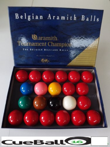 Belgian Aramith Tournament Champion Snooker Ball Set - used by WPBSA for all pro tournaments