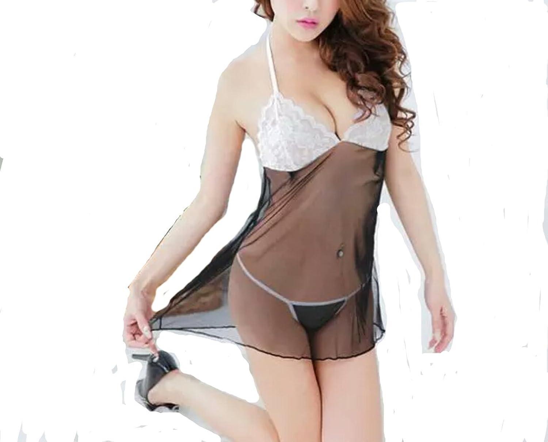 Negligee weiß schwarz transparent Nachthemd Dessous Reizwäsche 34 36 38 online kaufen