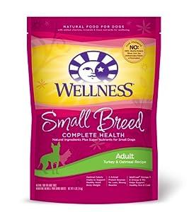 Wellness  Dry Dog Food, Adult Small Breed Health Recipe, Turkey & Oatmeal Recipe, 4-Pound Bag