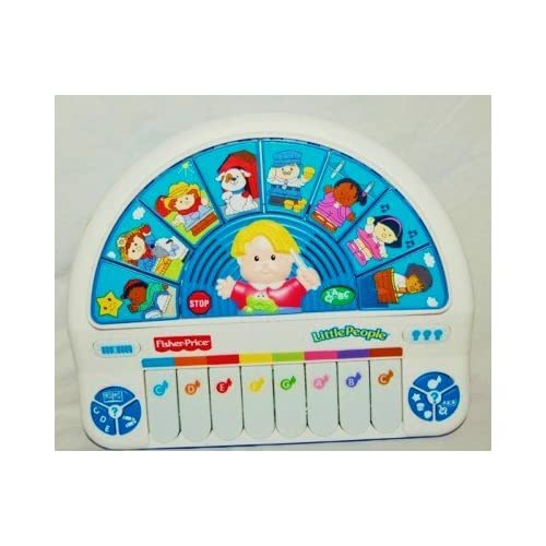 .com: Fisher Price Little People Growing Smart Keyboard - Music Piano