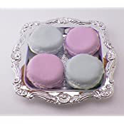 Pastel Purple And Blue Macarons Set Of 4 With Tray Perfect For 18 Inch American Girl Dolls
