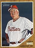 2011 Topps Heritage Baseball Card #374 Charlie Manuel MG - Philadelphia Phillies (Manager) MLB Trading Card