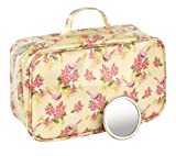 Heathcote & Ivory Vintage Collection Mimosa & Pomegranate Two Fold Toiletry Bag with Mirror