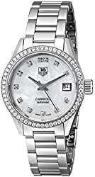 TAG Heuer Women's WAR2415.BA0770 Carrera Diamond-Accented Stainless Steel Automatic Watch