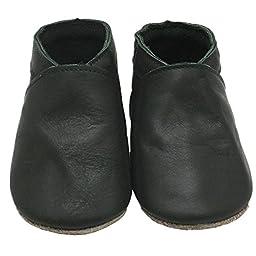 Mejale Baby Girl Shoes Soft Soled Leather Moccasins Anti-skid Infant Toddler Prewalker Cheap(dark green,12-18 months)