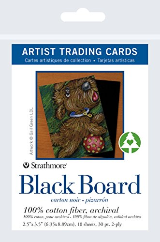 Pro-Art Strathmore Artist Trading Cards, 2.5 By 3.5-Inch, Black, 10-Pack