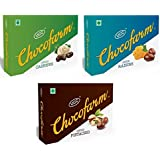 COMBO Offer Chocofarm CHOCOCLATE CONFECTION COATED(COVERED) RAISIN, ROASTED CASHEW AND PISTACHIO (Dry Fruits Chocolate)