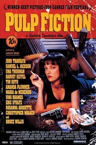 """Postercon locandina del film """"Pulp Fiction"""" + poster a sorpresa"""