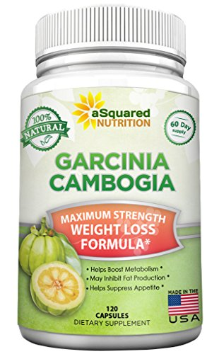 aSquared Nutrition Garcinia Cambogia Extract Weight Loss HCA Supplement - 100% Pure Natural Fat Burner Diet Detox Pills for Men & Women - 120 Capsules (Intake As You Use Less compare prices)