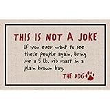 This Is Not A Joke - Dog Doormat