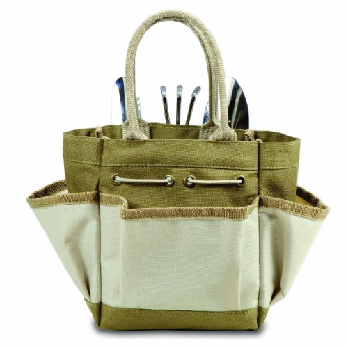 Picnic time garden tote with tools for Small garden tool carrier