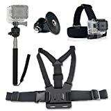 Ultimate GoPro Accessories Pack Head & Chest Strap & Monopod For HD & Hero 1/2/3/4