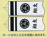 【徳永鯉のぼり】吹流し家紋・名前入れ、同一の家紋・名前入れF-3
