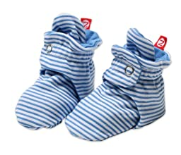 Zutano Baby-Girls Infant Candy Stripe Bootie, Periwinkle, 6 Months