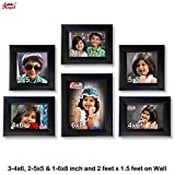 Ajanta Royal Classic set of 6 Individual Photo Frames (3-4x6, 2-5x5 & 1-6x8 Inch) WPC-01